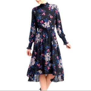 Nanette Lepore Hi-Lo Smocked Midi Dress, Size 6